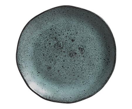 Jogo de Pratos em Cerâmica Orgânico Petroleum - Verde | WestwingNow