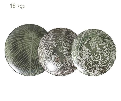 Jogo de Pratos Coup Herbarium - Verde, Verde | WestwingNow