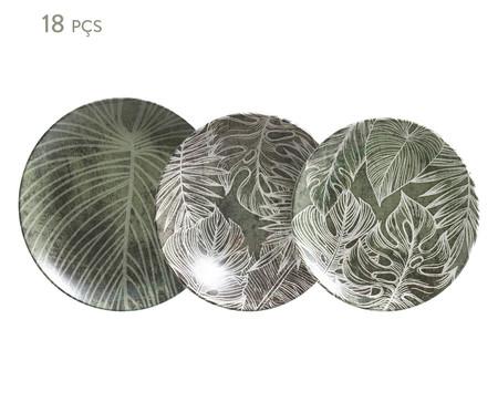 Jogo de Pratos Coup Herbarium - Verde | WestwingNow