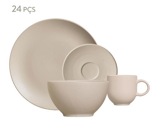 Jogo de Café da Manhã em Cerâmica Stoneware Haya Off-White - 06 Pessoas, Off-White   WestwingNow