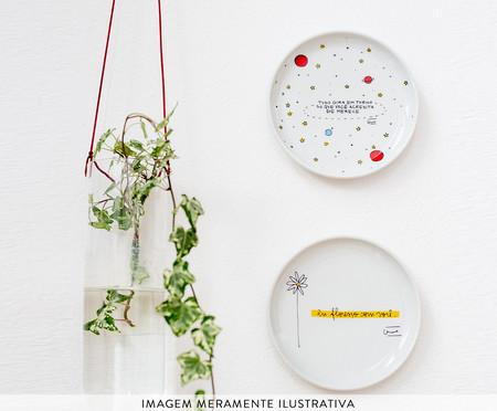 Prato Decorativo em Porcelana Nossa História - 15,5cm | WestwingNow