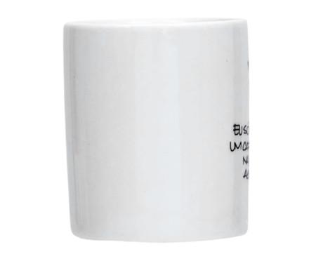 Caneca em Porcelana Cafezinho na Cama - Branco | WestwingNow