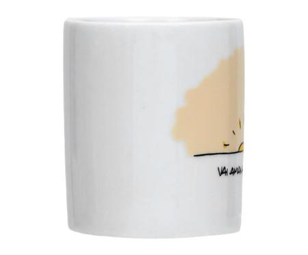 Caneca em Porcelana Vai Amanhecer - Branca | WestwingNow