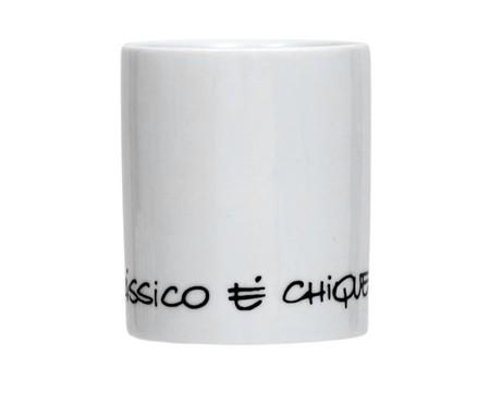 Caneca em Porcelana Clássico Chic - Branco | WestwingNow