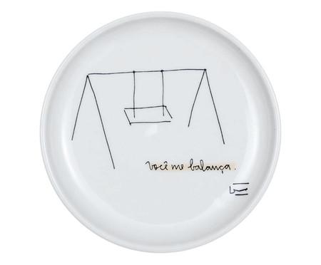 Prato Decorativo em Porcelana Balança - 15,5cm | WestwingNow