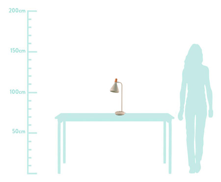 Luminária de Mesa Natalie Branca - Bivolt | WestwingNow