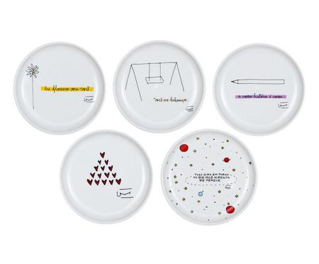 Jogo de Pratos Decorativos em Porcelana | WestwingNow