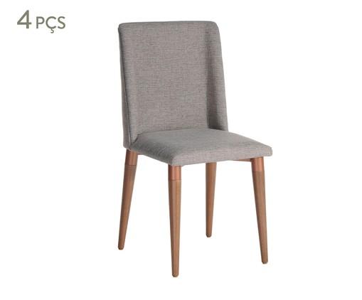 Conjunto de Cadeiras Thyra - Cinza, Cinza | WestwingNow