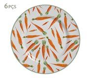 Jogo de Pratos Rasos Carrots | WestwingNow