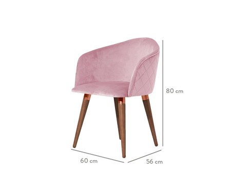 Cadeira Kari - Rosa | WestwingNow