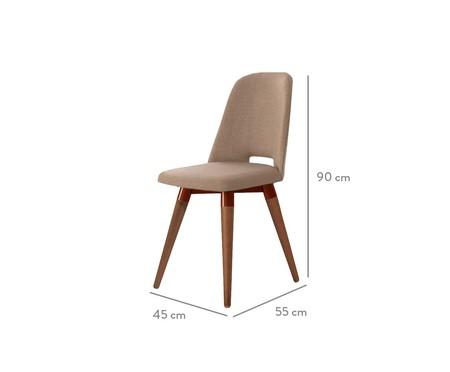 Cadeira Selina Giratória - Marrom | WestwingNow