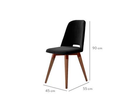 Cadeira Selina Giratória - Preto   WestwingNow