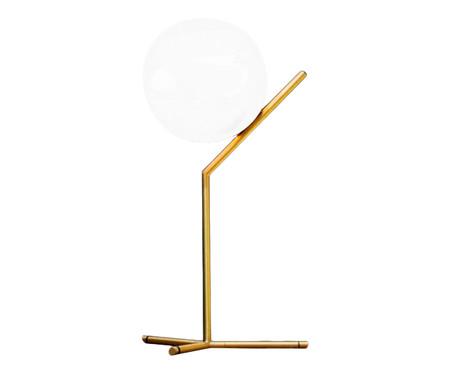 Abajur Moon Bola Fosca Dourado - Bivolt | WestwingNow