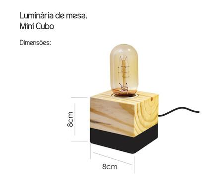 Luminária de Mesa Cubo Preta - Bivolt   WestwingNow