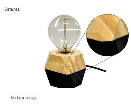 Luminária de Mesa Octa Iris Preta - Bivolt   WestwingNow