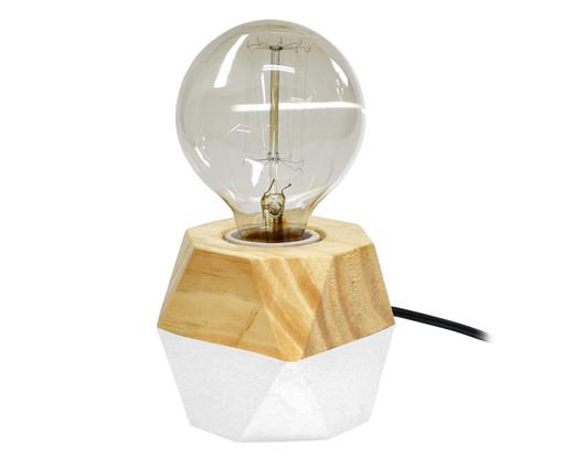 Luminária de Mesa Octa Iris Branca - Bivolt, Marrom   WestwingNow