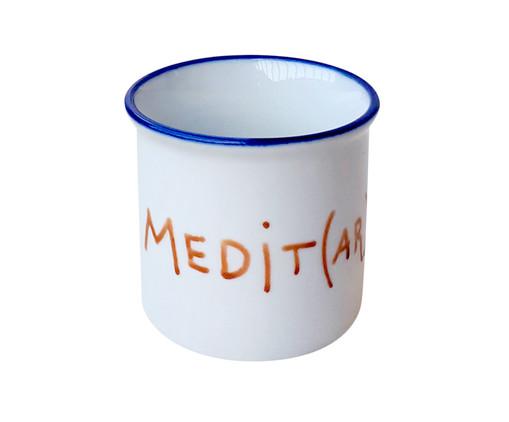 Caneca em Porcelana Medit(ar), Branco | WestwingNow