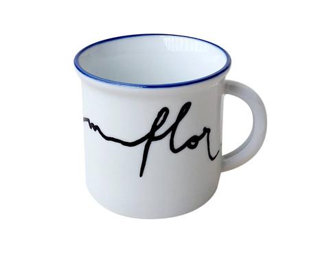 Caneca para Café em Porcelana Flor - Branco | WestwingNow