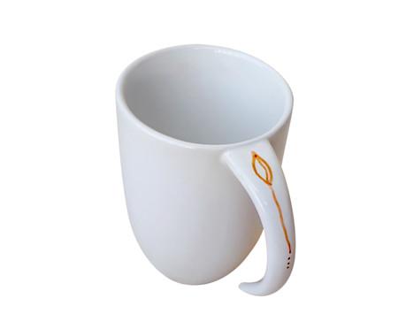 Caneca em Porcelana Dia Bom - Branco | WestwingNow