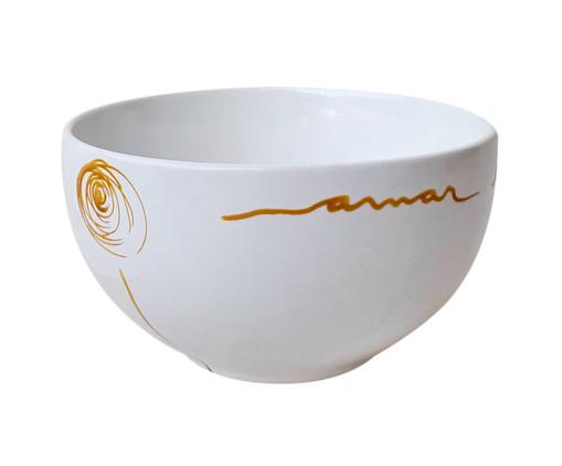 Bowl em Porcelana Flor Amarela, Branco   WestwingNow