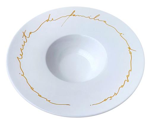 Prato em Porcelana Risoto do Coração, Branco | WestwingNow