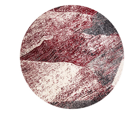 Tapete Redondo Liege Gali - Vermelho e Bege | WestwingNow