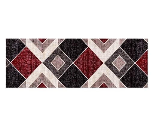 Tapete Passadeira Antuérpia Ray - Vermelho, Bege e Preto, Vermelho, Bege e Preto | WestwingNow