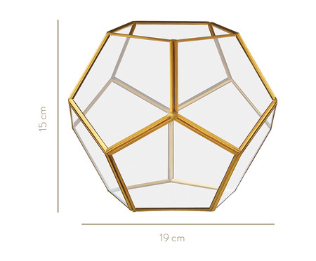 Vaso de Vidro Amana - Dourado | WestwingNow