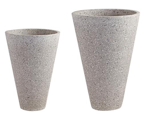 Jogo de Vasos de Piso Mali - Cinza, Cinza | WestwingNow