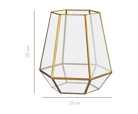 Vaso de Vidro Iraê - Dourado | WestwingNow