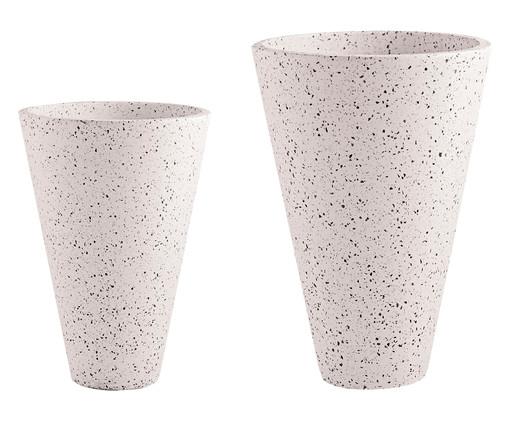 Jogo de Vasos de Piso Mali - Branco, Branco | WestwingNow