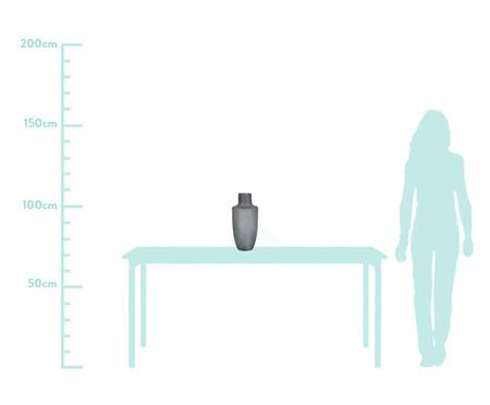 Vaso de Vidro Marcos - Cinza | WestwingNow
