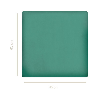 Cabeceira Modular em Veludo Duni Square - Verde Jade | WestwingNow