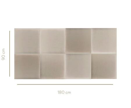 Cabeceira Modular em Veludo Duni Square - Off White | WestwingNow