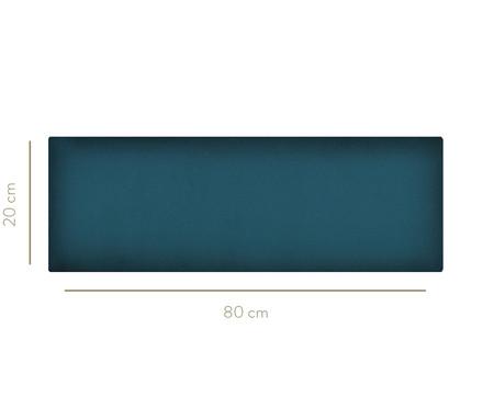 Cabeceira Modular em Veludo Duni Linear - Azul Prussia | WestwingNow