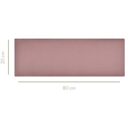 Cabeceira Modular em Veludo Duni Linear - Rosa | WestwingNow