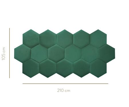 Cabeceira Modular em Veludo Duni Favo - Verde Jade | WestwingNow