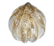 Adorno Antunes Transparente e Dourado - 17X17cm11X11 | WestwingNow