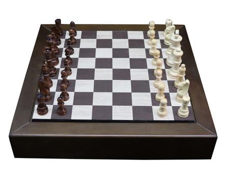 Jogo de Xadrez de Madeira Recouro - Marrom | WestwingNow