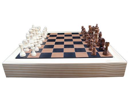 Jogo de Xadrez de Madeira Recouro - Caramelo   WestwingNow