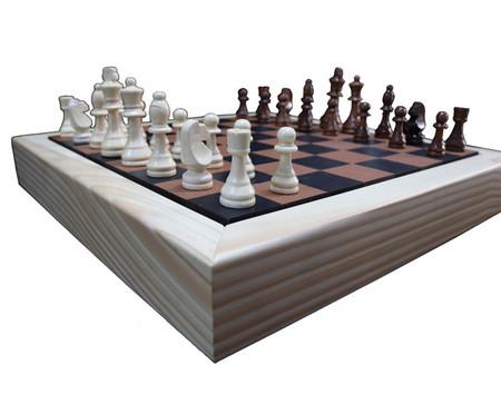 Jogo de Xadrez de Madeira Recouro - Caramelo | WestwingNow