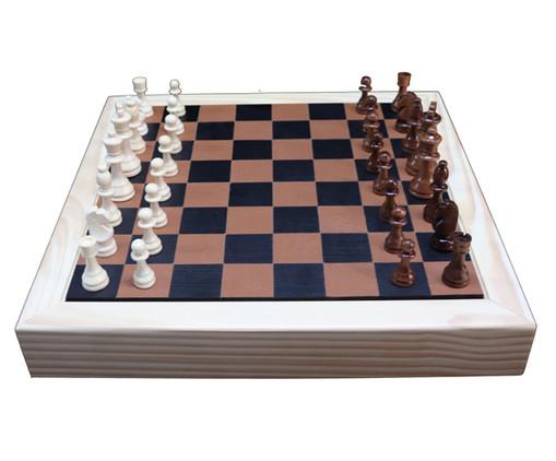 Jogo de Xadrez de Madeira Recouro - Caramelo, Caramelo   WestwingNow
