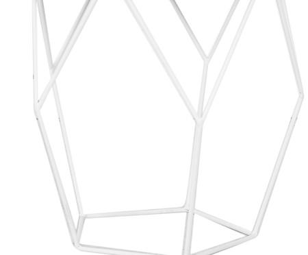 Mesa Lateral Diamante - Branca | WestwingNow