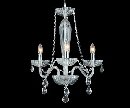 Lustre Anjou Vitória Transparente - Bivolt | WestwingNow