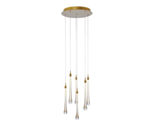 Pendente em Cristal Saul Dourado - Bivolt, Dourado,tranparente | WestwingNow