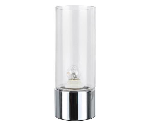 Luminária de Mesa Lia Prata - Bivolt, Transparente | WestwingNow
