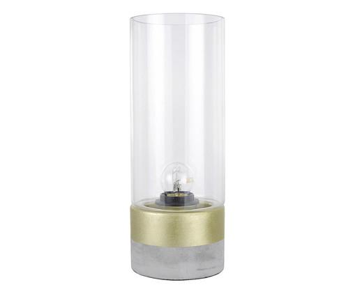 Luminária de Mesa Lia Dourada - Bivolt, Transparente | WestwingNow