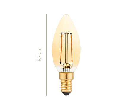 Lâmpada de Led Filamento Vela 2,5W Iara Luz Amarela - 220V | WestwingNow
