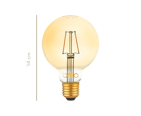 Lâmpada de Led Filamento 2,5W Milene Luz Amarela - Bivolt | WestwingNow