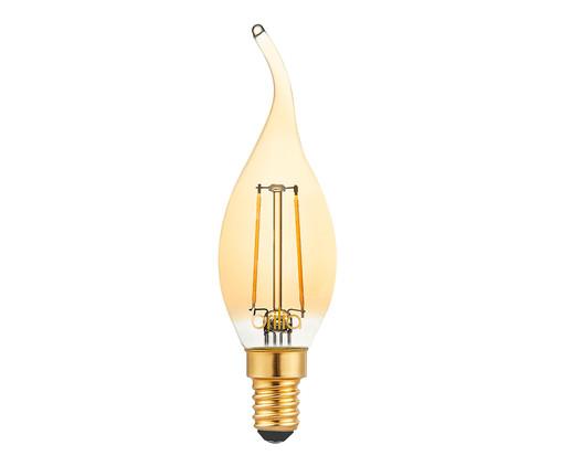Lâmpada de Led Filamento Vela Chama 2,5W Luna Luz Amarela - 127V, Amarela   WestwingNow